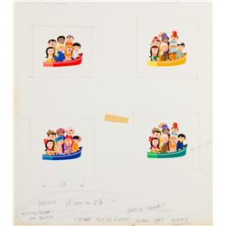"""""""It's a Small World"""" Original Guidebook Paintings."""