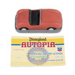 """Autopia"" Olszewski Miniature Box & Driver's License."