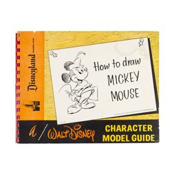 """""""How to Draw Mickey Mouse"""" Character Model Guide."""