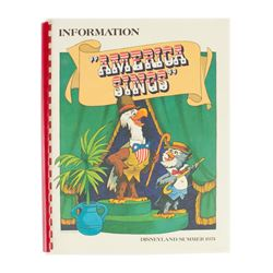 """America Sings"" Grand Opening Press Information Book."