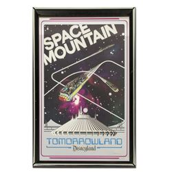 "1975 Pre-Opening ""Space Mountain"" Mirror Poster."