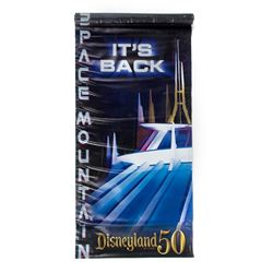 "Disneyland 50th Anniversary ""Space Mountain"" Banner."
