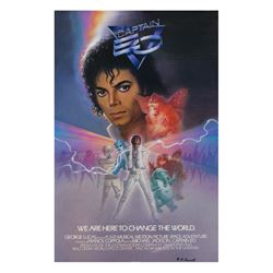 """Captain EO"" Signed Souvenir Attraction Poster."