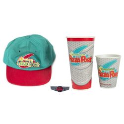 "Collection of (4) ""Redd Rockett's Pizza Port"" Items."