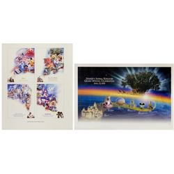 Pair of Disney Theme Park Commemorative Posters.