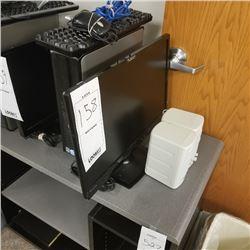 DELL OPTIPLEX 330 DESK TOP WITH WINDOWS VISTA BUSINESS/PLANAR FLAT MONITOR/PR SPEAKERS