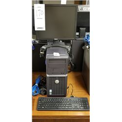DELL OPTIPLEX 210L DESKTOP COMPUTER/ XP PROFESSIONAL/DELL FLAT MONITOR/KEYBOARD/CABLES