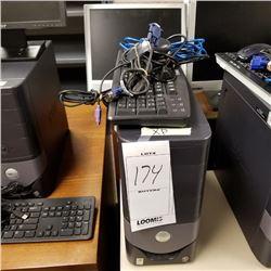 BUNDLE LOT: 2 DELL OPTIPLEX 170L DESKTOP COMPUTER/ XP PROFESSIONAL/ FLAT MONITOR/KEYBOARD/CABLES