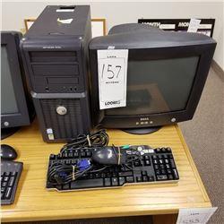DELL OPTIPLEX 210L DESKTOP COMPUTER/ XP PROFESSIONAL/DELL MONITOR/KEYBOARD/CABLES