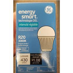 ENERGY SMART LED TECHNOLOGY R20/3000K DIMMABLE 9 WATT BULBS