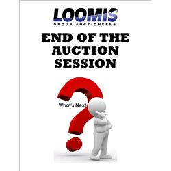 At the end of the auction session, WHAT IS NEXT?
