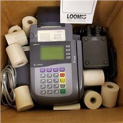 SUPER BUNDLE LOT: VERIFONE OMNI 3300 CREDIT CARD MACHINE/2 PC/ KEYBOARD AND MACHINE/CABLES