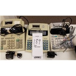 3PC LOT OF ELECTRIC CALCULATORS/SHARP/VICTOR/CASIO