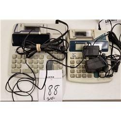 2PC LOT OF ELECTRIC CALCULATORS/TEXAS INSTRUMENTS