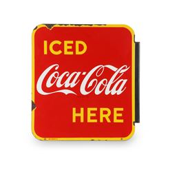 Coca-Cola Porcelain Flange Sign
