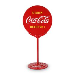 "Coca-Cola ""Lollipop"" Curb Sign"