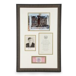 Kennedy Inauguration Framed Ephemera