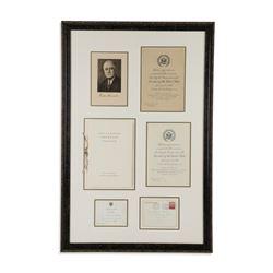 Roosevelt Inauguration Invitation Ephemera