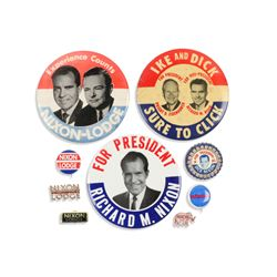 Eisenhower & Nixon Political Pinbacks, Tab