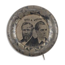 Hayes & Wheeler US Political Pinback