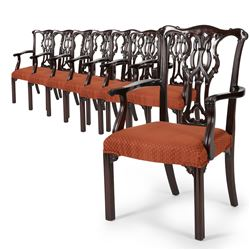 Carved Arm Chairs