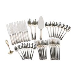 Damask Rose Sterling Flatware Service