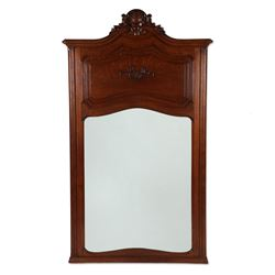 Formal Carved Oak Hall Mirror