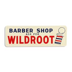 Wildroot Barber Shop Tin Sign
