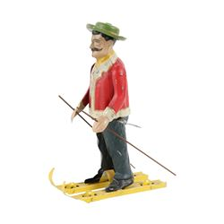 Early German Wind-up Skier Toy