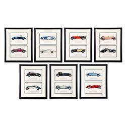 1930s Automotive Plate Prints