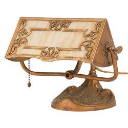 Slag Glass Desk Lamp