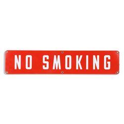 No Smoking Gas Station Porcelain Sign