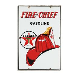Texaco Fire Chief Porcelain Pump Plate