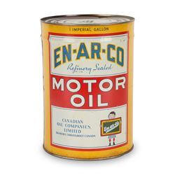 En-Ar-Co Motor Oil Gallon Oil Can