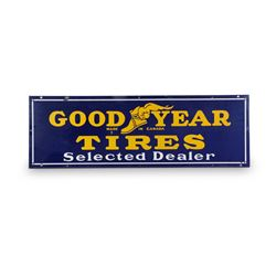 Goodyear Tires Selected Dealers Porcelain Sign