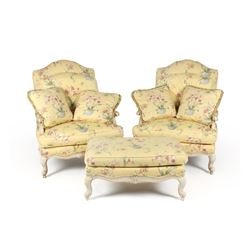 Thomasville Designed Chairs & Ottoman