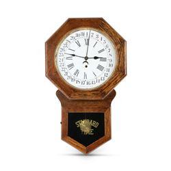 """Pequegnat """"Brandon"""" Schoolhouse Clock"""