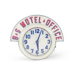 B&S Motel & Office Cleveland Neon Clock