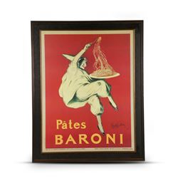 Pates Baroni Framed Lithograph