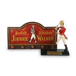 Johnny Walker Sign & Statue