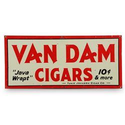 Van Dam Cigars Embossed Tin Sign