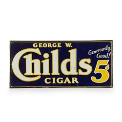 George W. Childs Cigar Embossed Tin Sign