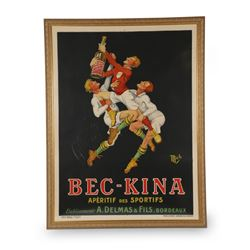 Liebeaux, M. Bec-Kina Lithographic Poster