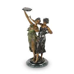 Monumental Dancing Flappers Bronze