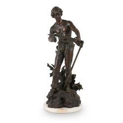 Ogllamy Spelter Statuette