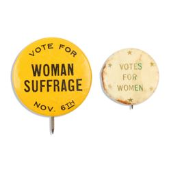 US Suffrage Political Pinbacks