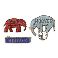 Hoover & Curtis Political Pinbacks