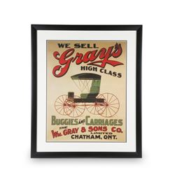 Reproduction Gray's Buggies & Carriages Poster