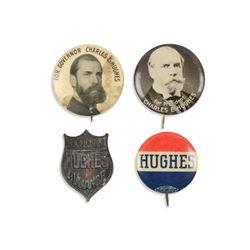 Hughes Political Pinbacks, Lapel Stud