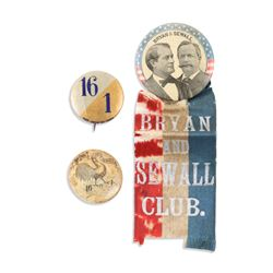 Bryan & Sewall Political Pinbacks